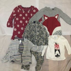 5 Pieces Toddler Girls Clothing Lot 12-18 months